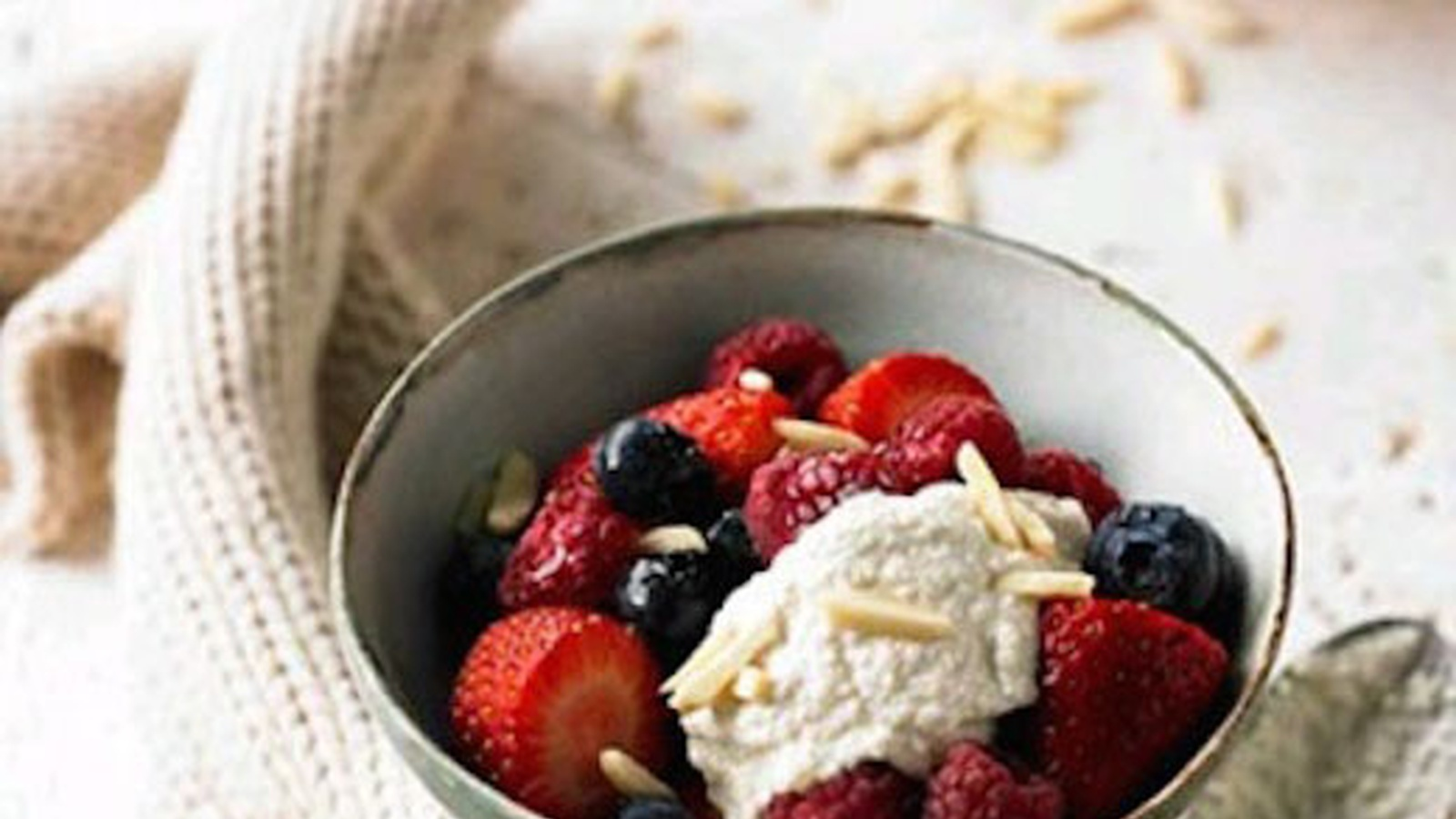 Berries In Apple Cider Vinegar With Cashew Nut Cream