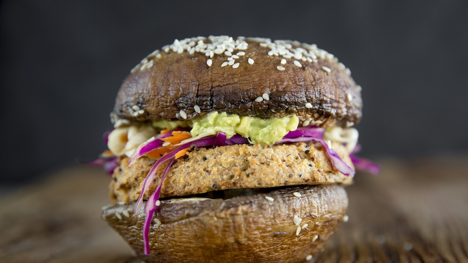 Portobello Mushroom Burgers With Spicy Cauliflower Patties Food Matters