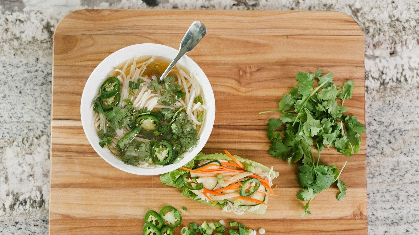 Homemade Bone Broth Pho & Banh Mi Wraps