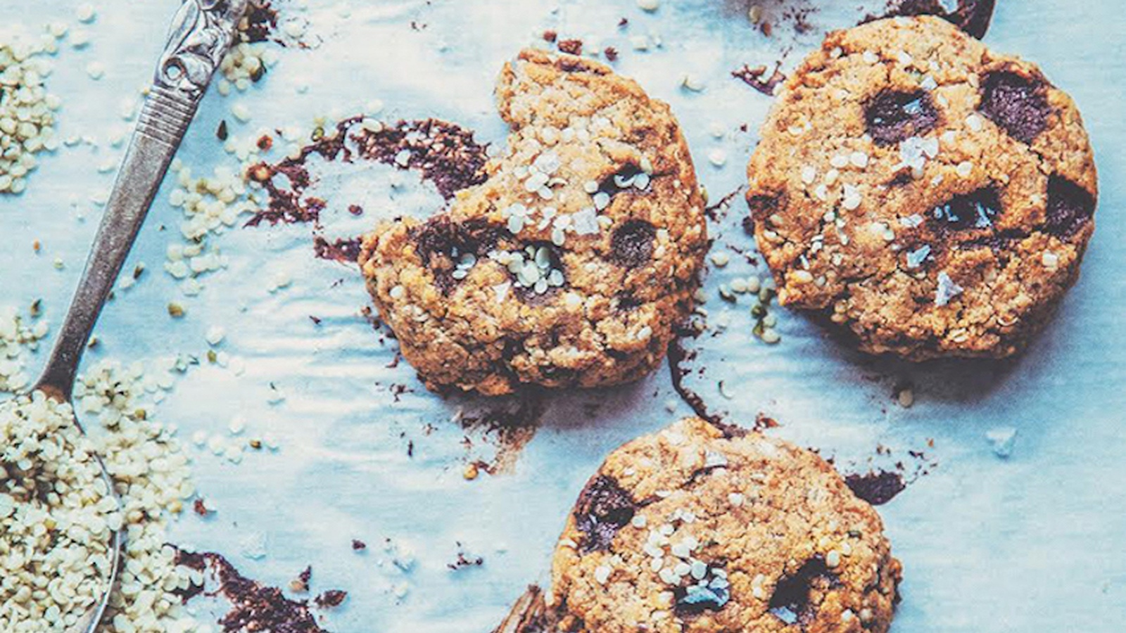 Quick Almond Butter Cookies with Coconut, Hemp & Flax