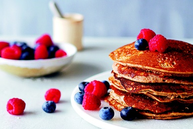 Healthy recipes nutritious delicious ideas food matters banana pancakes with berries forumfinder Choice Image