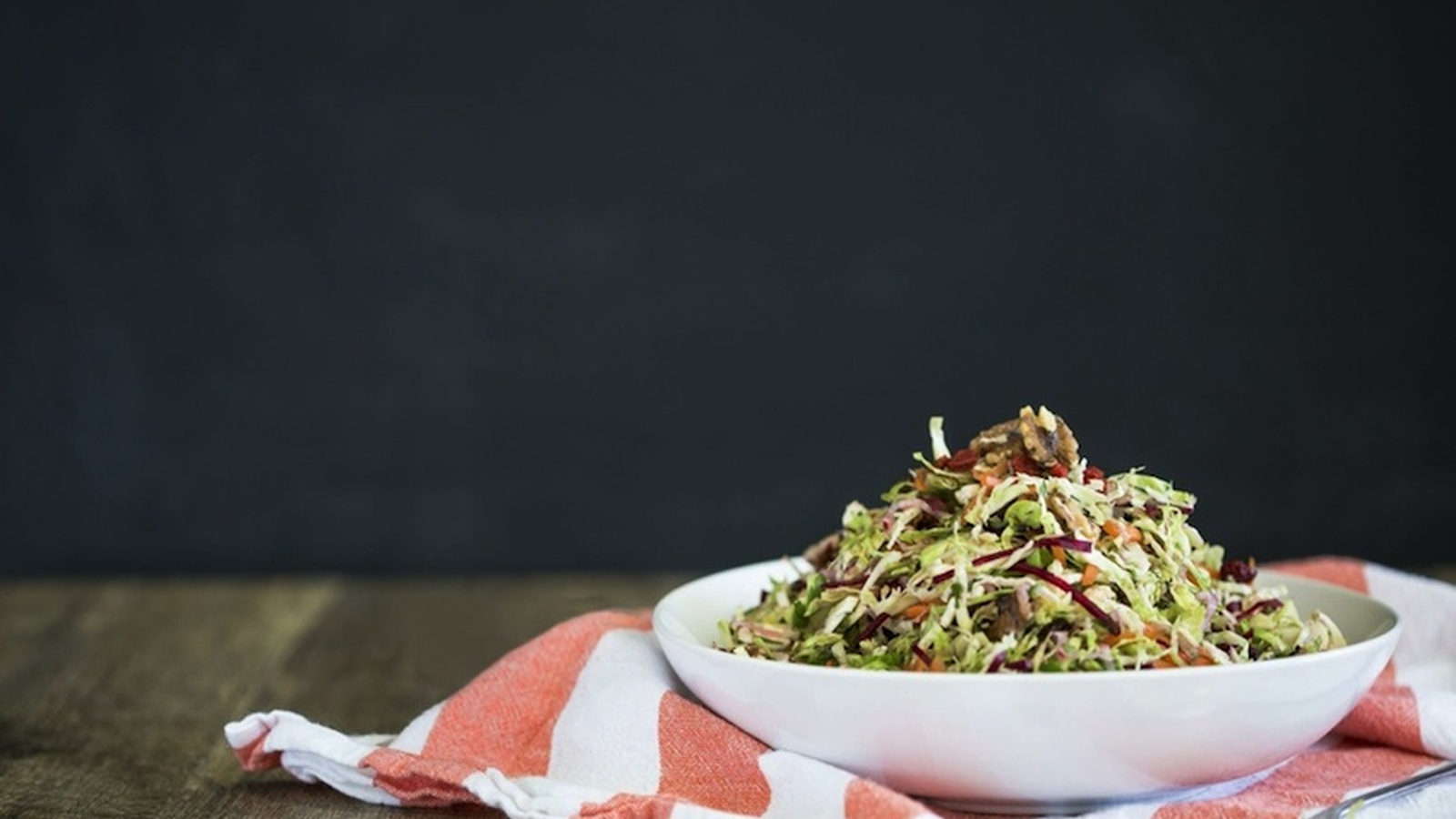 Brussels Sprouts, Cranberry & Walnut Salad