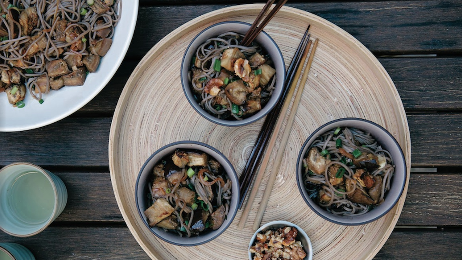 Miso Eggplant with Soba Noodles and Walnuts