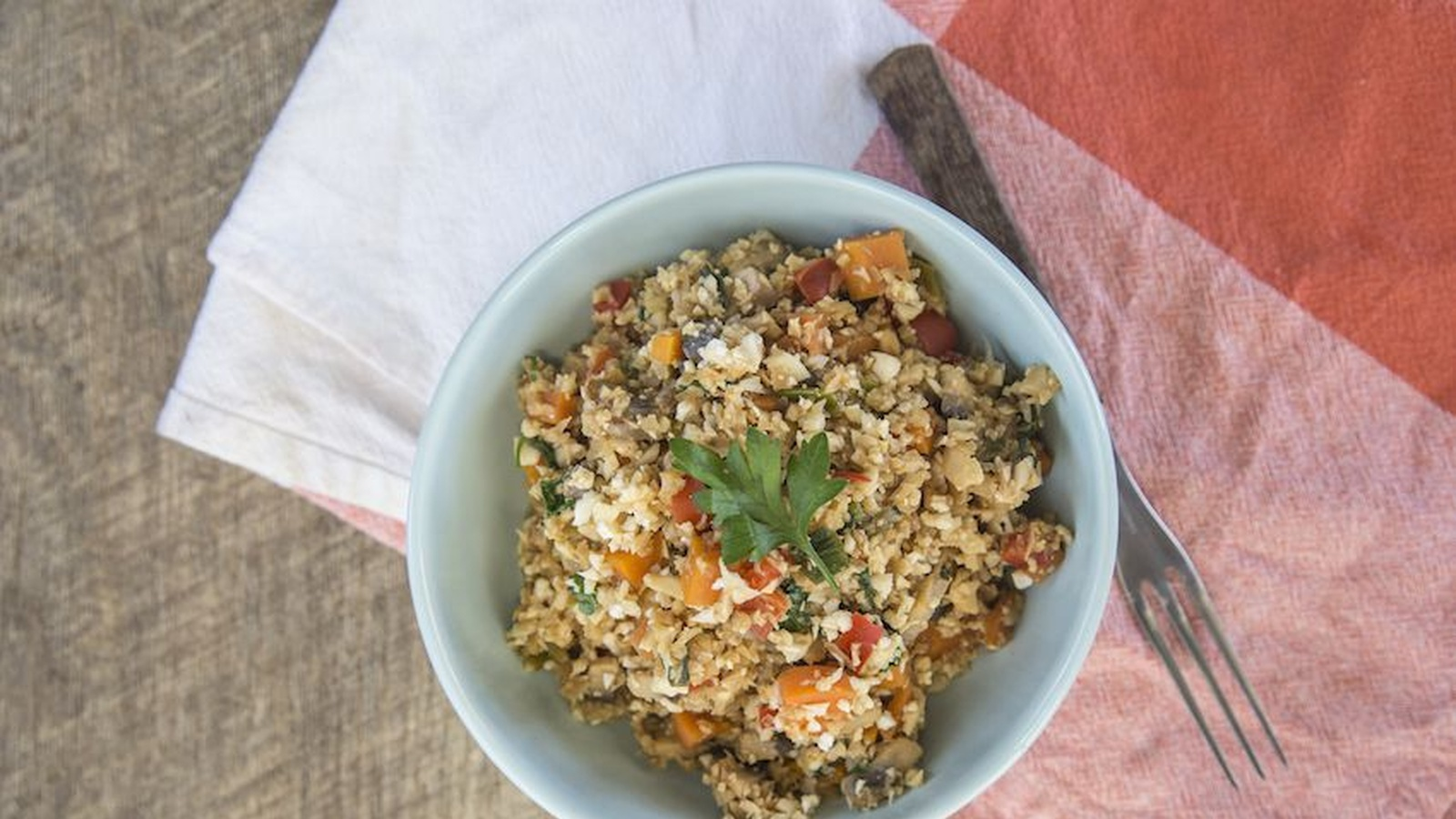 One Pot Dinner: Vegan Fried 'Rice'