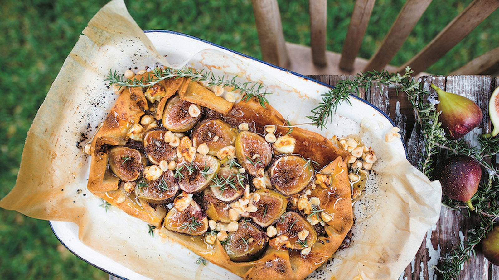 Fig, Hazelnut and Goat's Cheese Tart