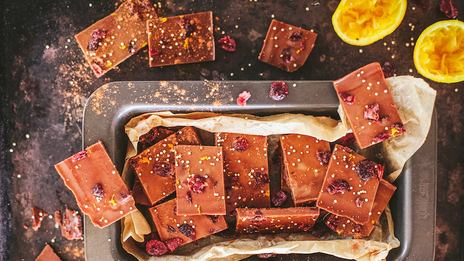 Butter Chocolate With Cranberry & Orange