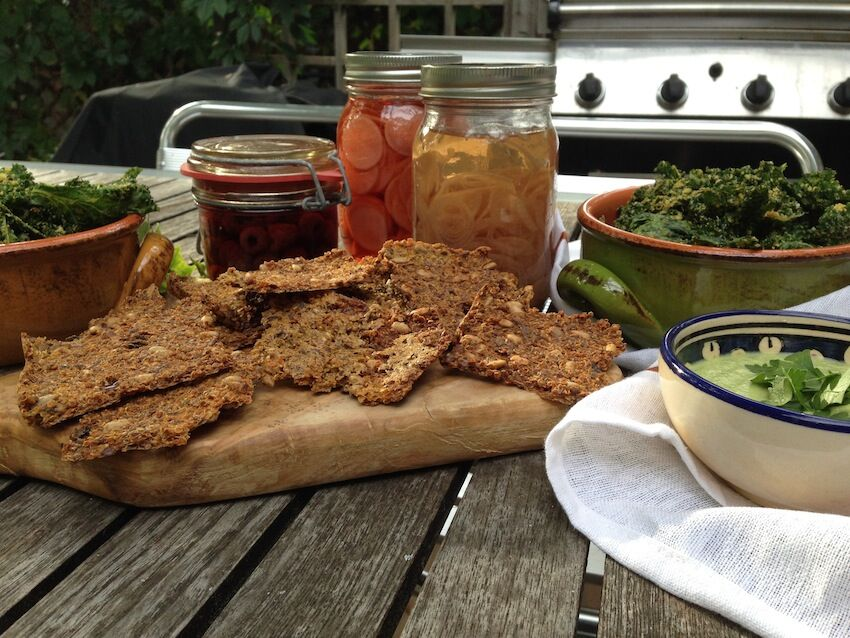 Gluten-Free Quinoa and Seed Crackers | FOOD MATTERS®