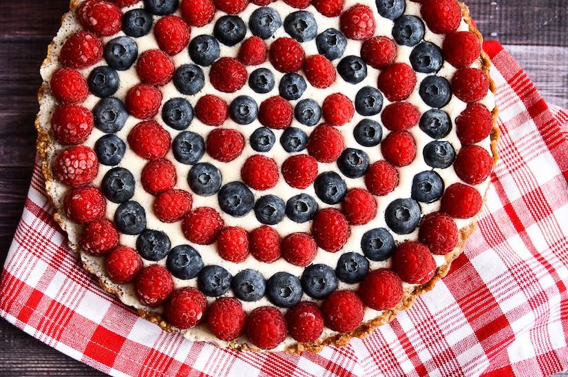 4th of July Raw Berry Tart!