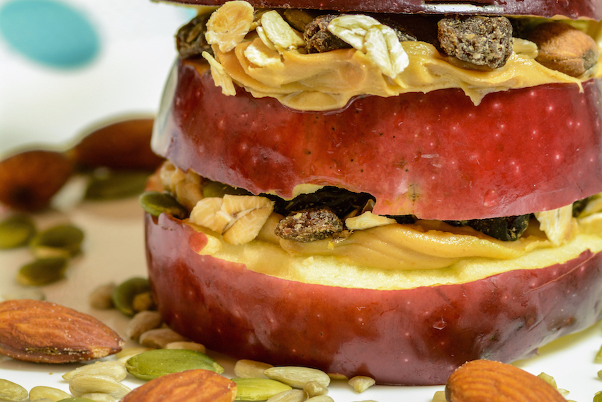 Quick Raw And Healthy Recipes-Hearty Apple Sandwich