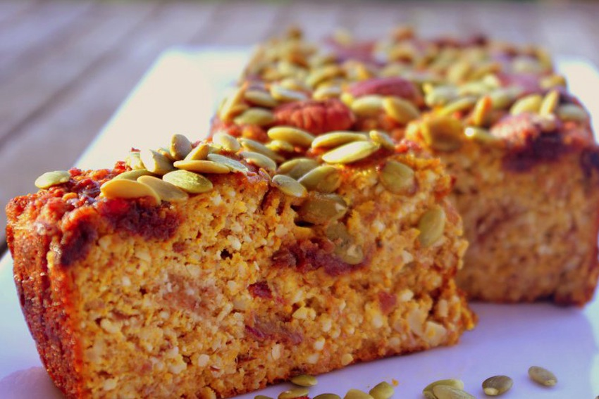 Pumpkin, Date And Almond Loaf