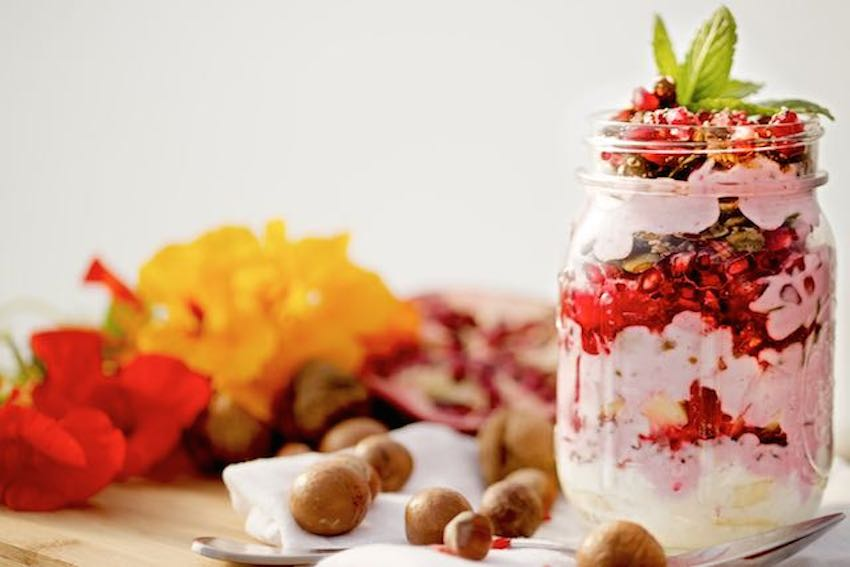 Coconut Yogurt With Pomegranate & Nuts