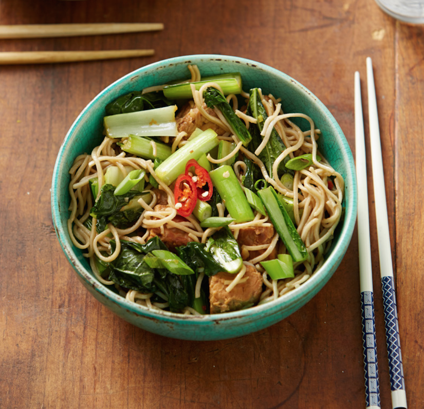 Choy Sum, Soba And Tempeh Salad (Recipe)