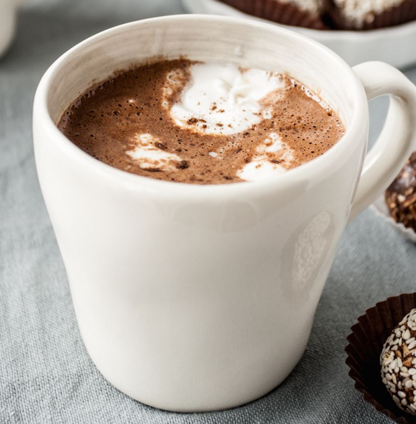Mexican Hot Chocolate with Coconut Whipped Cream (Recipe)