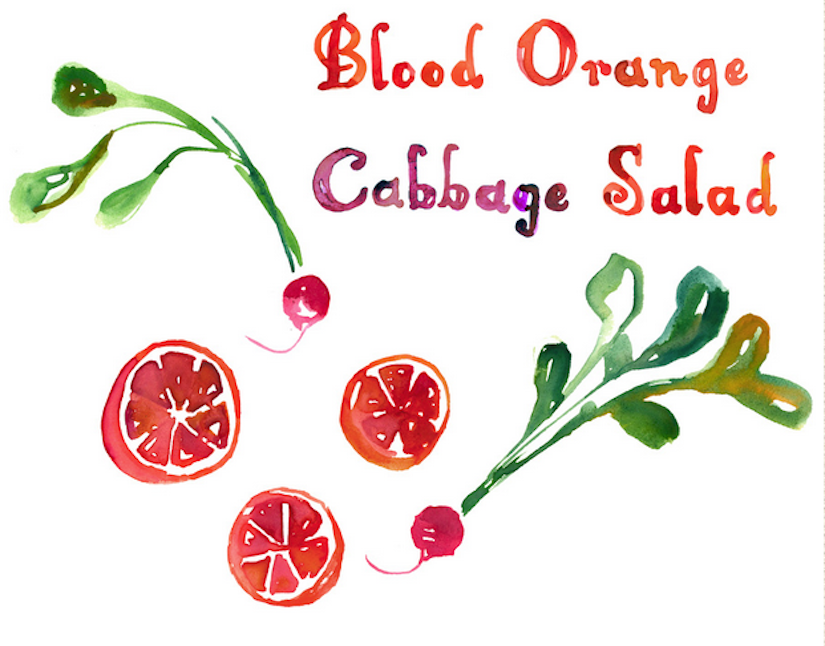 Blood Orange Cabbage Salad (Recipe)