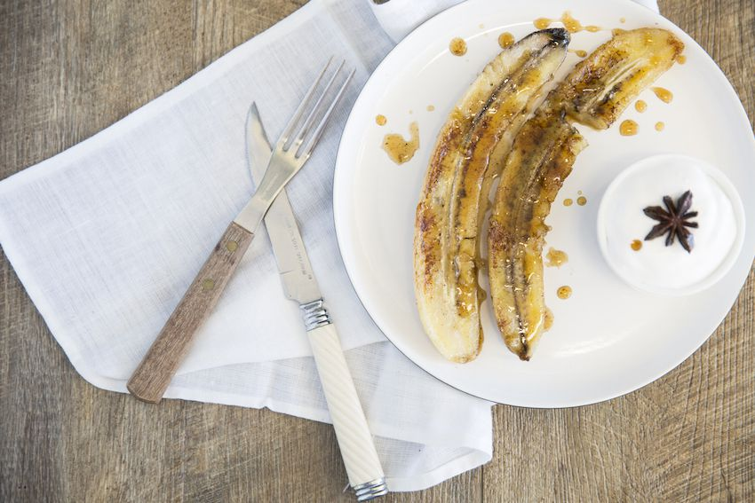 Spiced Caramelized Bananas With Coconut Yogurt