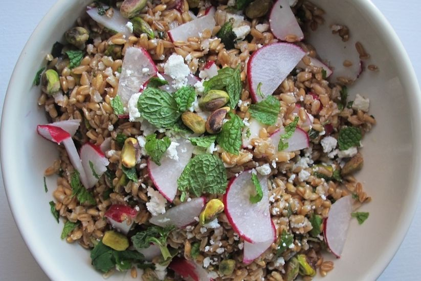 Pistachio and Mint Farro Salad (Recipe)