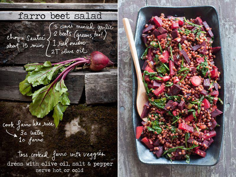 farro beets greens farro is a hearty chewy grain kind of like ...