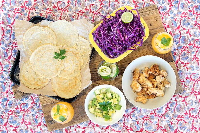 Fish taco 39 s with cabbage slaw and gluten free tortillas for Fish tacos cabbage