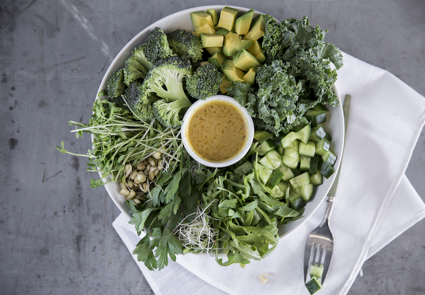 Green Gratitude Bowl With Turmeric & Tahini Dressing