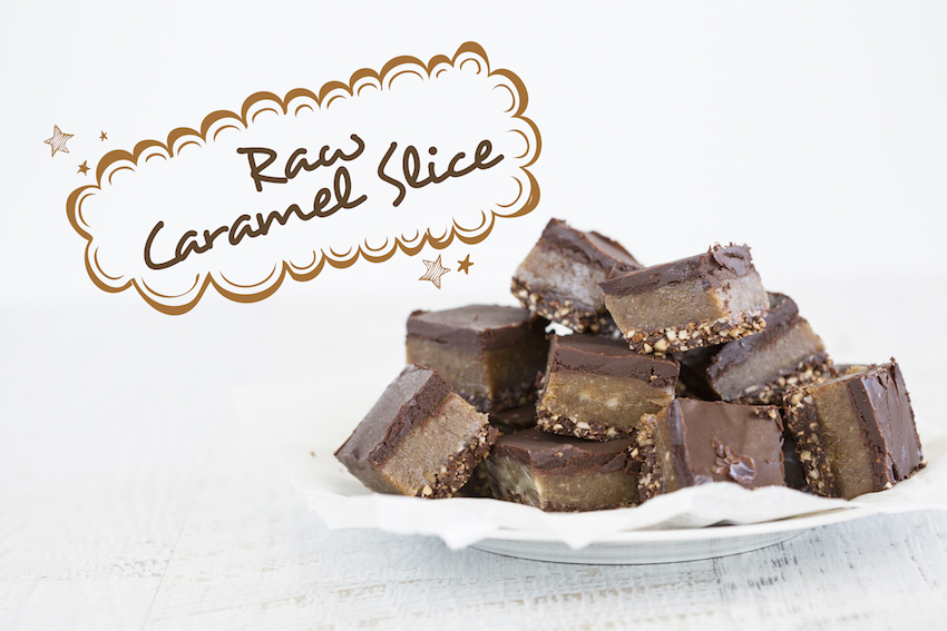 Naughty But Nice: Raw Caramel Slice