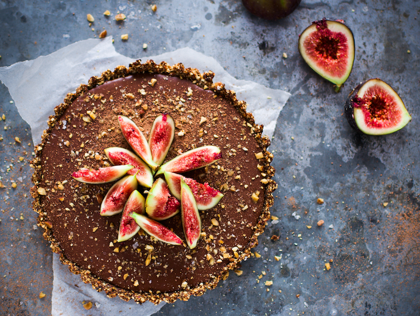 SALTED CARAMEL, CHOCOLATE AND FIG TART (RECIPE)