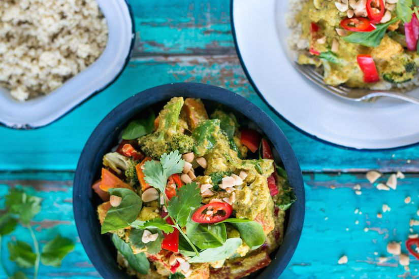 Satay Vegetable Curry With Quinoa