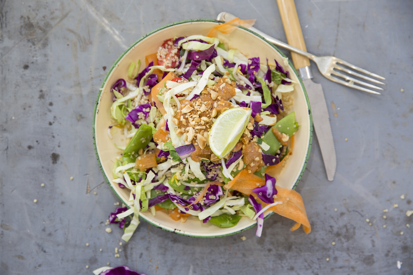 Foodmatters daily health and wellness inspiration thai quinoa salad with spicy peanut dressing forumfinder Image collections