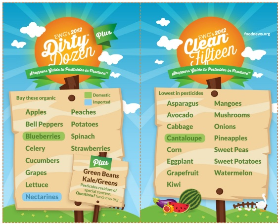 2012 Shopper's Guide to Pesticides- The Dirty Dozen & Clean 15