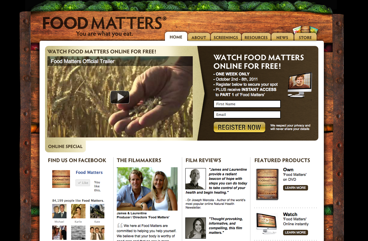 New Look Food Matters Website