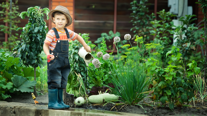 how to get your kids in the garden
