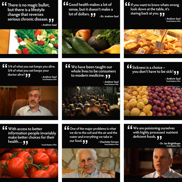 Quotes from Food Matters