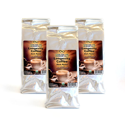 Longevity Coffee Dark Roast 3 Pack