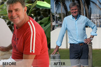 Roy, before and now!