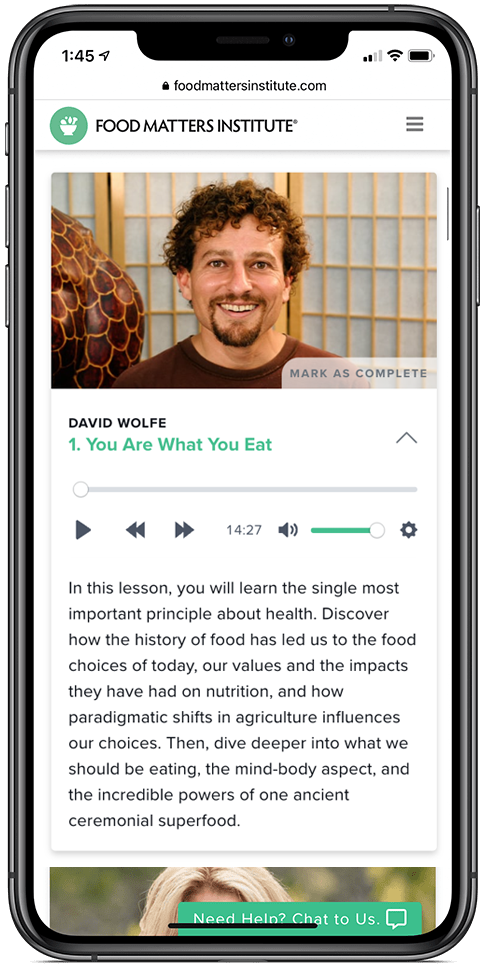 The Food Matters Nutrition Certification David Wolfe Audio