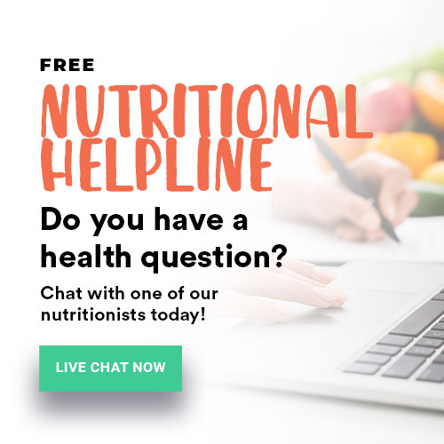 [FREE] Nutritional Helpline - Do you have a health question? Chat with one of our nutritionist today!