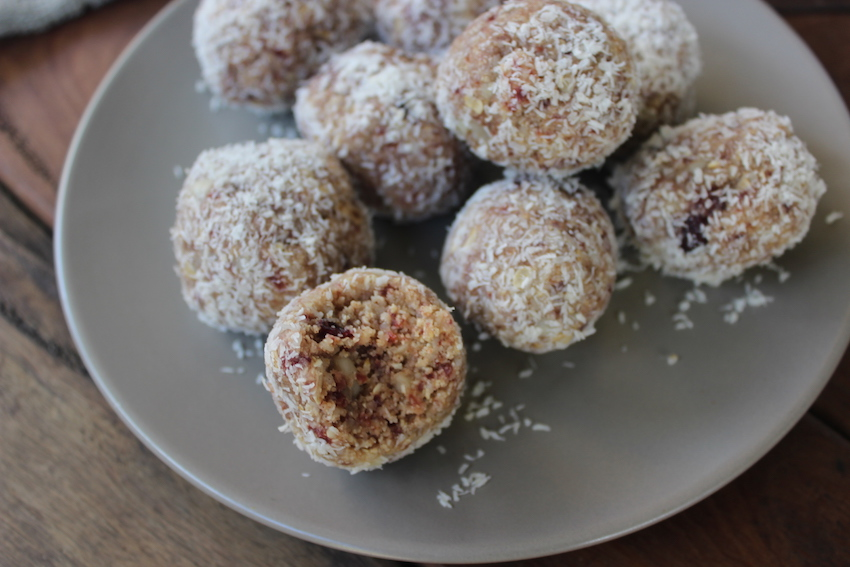 Cranberry and Macadamia Bliss Balls