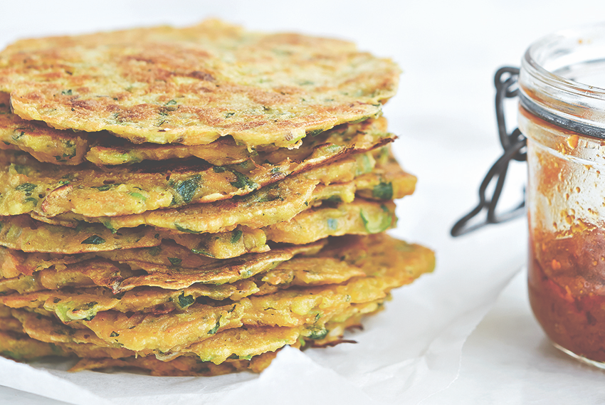 Carrot And Chickpea Pancakes