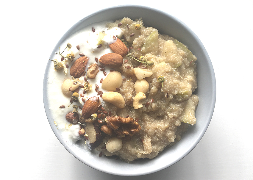 Chamomile, Cinnamon and Pear Porridge