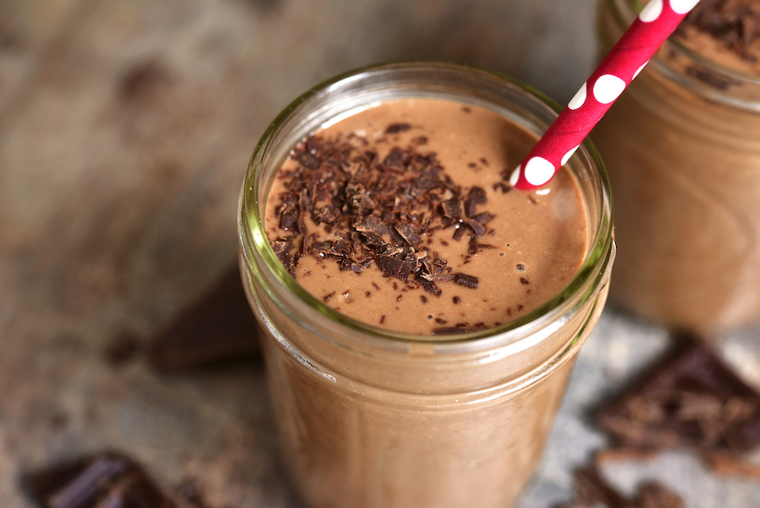 Chocolate Peanut Butter Heart Healthy Smoothie