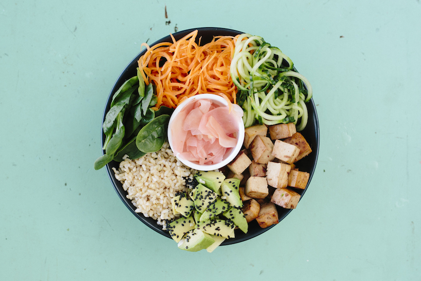 Deconstructed Sushi Bowl With Marinated Tamari Tofu