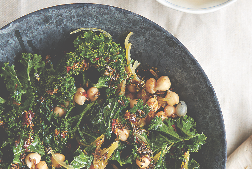 Kale, Chickpea, Mint And Preserved Lemon Salad