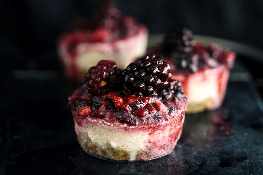 Raspberry Cheesecakes With A Vegetable (Dairy, Gluten & Nut Free)