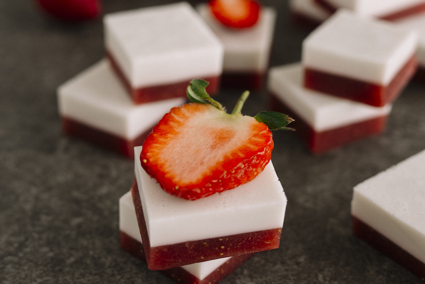 Strawberry & Coconut Layered Gummies