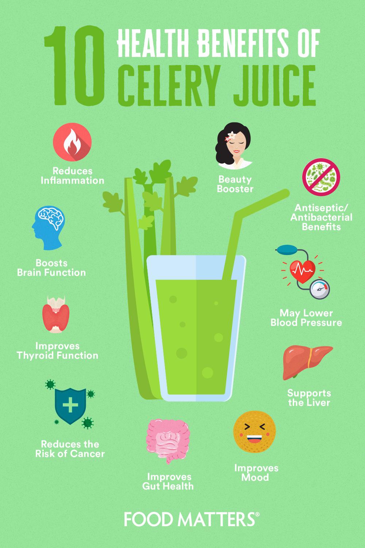 10 health benefits of celery juice | food matters®